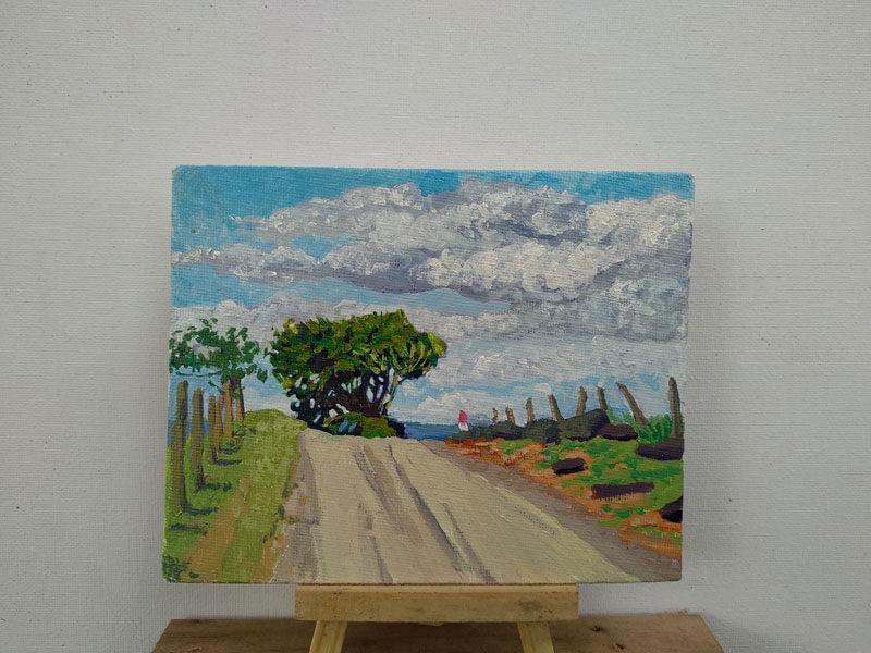 Camino rural hacia la bajura. Image